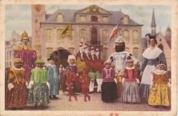 Tros Beiaard;  (12 X 8) CmEen Indruwekkende Groep Reuzen Rond Het Ros Beiaard En De 4 Heemskinderen - LIER - Inaugurations