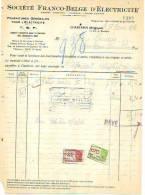 Charleroi - 1946 - Société Franco-Belge D'électricité (T.S.F.) - Électricité & Gaz