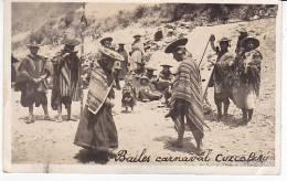Peru Carnaval Bailes Dance Ethnic Natives Ca1930 Photo Postcard Tarjeta Postal [W3_0521] - Perú