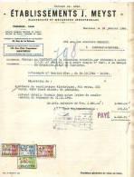 Charleroi - 1946 - Etablissement J. Meyst -électricité Et Mécanique Industrielles - Cars
