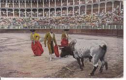 Tarjeta Postal Tauromaquia Estocada Spain Postcard Bull Fight Ca1900 [W3_0536] - Corridas