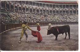 Tarjeta Postal Tauromaquia ENTRANDO A MATAR Spain Postcard Bull Fight Ca1900 [W3_0537] - Corridas