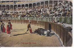 Tarjeta Postal Tauromaquia MUERTE DEL TORO Spain Postcard Bull Fight Ca1900 [W3_0538] - Corridas