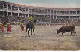 Tarjeta Postal Tauromaquia CITANDO A LA PICA Spain Postcard Bull Fight Ca1900 [W3_0539] - Corridas