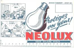 Buvard  électricité Ampoule Protégez Vos Yeux Avec Neolux - Electricité & Gaz
