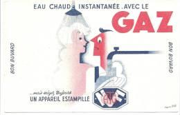 Buvard  Eau Chaude Instantannée Avec Le GAZ  Exigez Toujours Un Appareil NF - Electricité & Gaz