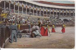 Tarjeta Postal Tauromaquia QUITE DE CABALLO Spain Postcard Bull Fight Ca1900 [W3_0540] - Corridas