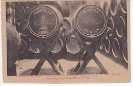 Tarjeta Postal Domecq Jerez Barriles Firmados Por Rey Y Reina Kings Spain Cognac Vins Postcard Ca1900 [W3_0545] - Cádiz