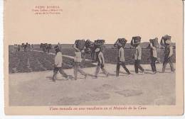 Tarjeta Postal Domecq Jerez Carry Grapes Spain Cognac Vins Postcard Ca1900 [W3_0549] - Cádiz