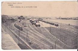 Tarjeta Postal Cadiz Estacion Railroad Busy Station Railway Spain  Postcard Ca1900 [W3_0550] - Cádiz