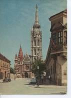 (HON9) BUDAPEST . MATTHIAS CHURCH . OLD CARS. VOITURE - Hongarije