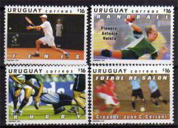 Sports(football En Salle,rugby,tennis,hand Ball).  Serie De 4  T-p ** D´ URUGUAY. Yvert # 2293/96 - Uruguay