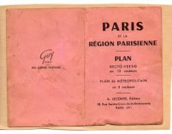 """FRANCE PARIS ET LA REGION PARISIENNE    """"Plan Du Métropolitain En 8 Couleurs"""" - Europe"""