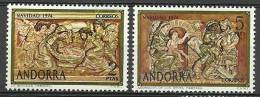 ANDORRA-  CORREO ESPAÑOL C.M.ABAD Nº 86/87 ** SIN FIJASELLOS. - Andorra Española