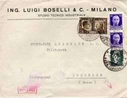 ITALIE LETTRE CENSUREE POUR L'ALLEMAGNE 1941 - Poststempel