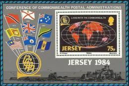 JER 1984-323 DEFINITIVE, JERSEY, S/S, MNH - Briefmarken