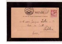 TEM8173  -    CARTE POSTALE  AFFRANCATA CON  IL 10 C. (CAT.UNIFICATO124) -  LYON  9.5.1903 - Marcophilie (Lettres)