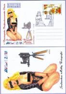 Sonderstempel Sonderschau Hobbyfotografie Mädchen Vor Kamera Musterkarte Specimen (635) - Fotografie