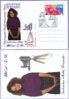 Sonderstempel Sonderschau Hobbyfotografie Mädchen Vor Kamera Musterkarte Specimen (634) - Fotografie
