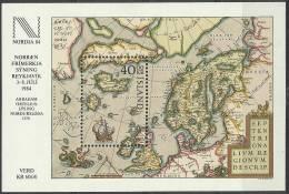 ISL 1984-606 MAP, ISLAND, S/S, MNH - Geographie