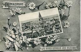 N°25804 -cpa De Dunkerque -je Vous Envoie Ces Fleurs- - Dunkerque