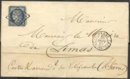 AP418 - 20c Cérès Coins Coupés Pour Hostilité à Napoléon III. - Marcophilie (Lettres)