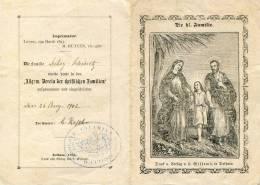 """La Calamine Statuts Membres De La Sainte Famille 1902 Cachet """"Si.... Roch... Calamine"""" - Devotion Images"""
