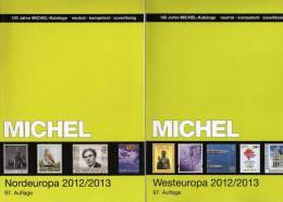 Michel Katalog West-/Nord-Europa 2013 Neu 116€ Band 5+6 Belgien Lux NL UK EIRE Esti DK Finland Lettland Litauen Norwegen - Collections