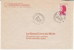 Lettre 1985 Oblitération Plastlique Ambulant Ferroviaire AX LES THERMES A TOULOUSE B Sur Liberté - 1961-....