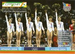 ROMANIA, WOMEN'S GYMNASTICS TEAM, OLYMPIC CHAMPION, ATHENS 2004 CATALINA PONOR,SILVIA STROESCU,MONICA ROSU,ALEXANDRA ERE - Gymnastics
