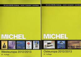 Michel Katalog West-/Ost-Europa 2013 Neu 116€ Band 6+7: B Eire Lux NL UK Man Jersey Moldawien Polska Russia USSR Ukraine - Oude Documenten