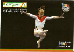 GYMNASTICS,SIMONA AMANAR,ROAMANIAN GYMNAST, MULTIPLE EUROPEAN,WORLD,OLYMPIC CHAMPION - ROMANIA, WOMEN'S GYMNASTICS TEAM - Gymnastics