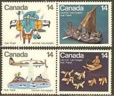 CANADA 1978 MNH Stamp(s) Eskimo Travels 704-707 #5693 - Canada