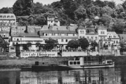 Eis-Cafe Elbterrasse - Wehlen - Ship/bateau/schiff - Carte Photo - Wehlen