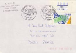 France, FDC N° 2640 Journée Du Timbre 1990, Lure (70) (sur Lettre), La Poste - Post