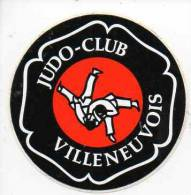 Autocollant Sport Judo - Club Villeneuvois (47) - Stickers