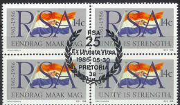 SOUTH AFRICA 1986 CTO Stamp(s) Republic Block 687-688 #3580 - South Africa (1961-...)