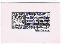 Gelegnete Weihnacht Weihnachts Spruchkarte De Wall Feldpost 1941 - Weihnachten