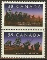 CANADA 1989 MNH Stamp(s) Regiment 1146-1147 #5858 - 1952-.... Reign Of Elizabeth II