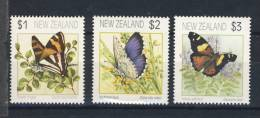 NOUVELLE-ZELANDE 1991 PAPILLONS  YVERT N°1152/54  NEUF MNH** - Papillons
