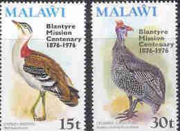 MALAWI 1976 MNH Stamp(s) Blantyre Mission (bird) 271-272 #4563 - Birds