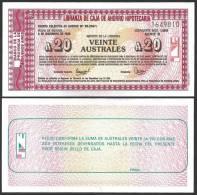 Argentine 20 Australes EMERGENCY B.Aires 2-12-1985 NEUF GEM UNC - Argentine