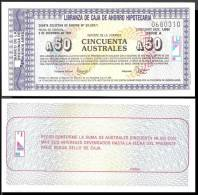 Argentine 50 Australes ERGENCY B.Aires 2-12-1985 NEUF GEM UNC - Argentine