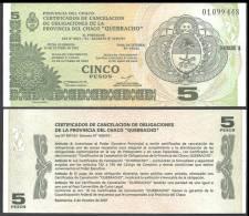 Argentine 5 PESOS Prov. Del Chaco 2001 NEUF GEM UNC - Argentine