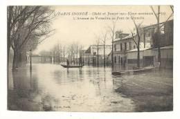 Cp, 75, Paris, Inondation Du 28 Janier 1910, L'Avenue De Versailles Au Pont De Grenelle - Paris Flood, 1910