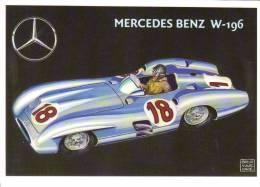 Mercedes Benz W196  -  1954  -  Juan Manuel Fangio  -  Art Card By Brovarone - Sport Automobile