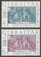 Gibraltar. 1973 Christmas. Mint Never Hinged Complete Set - Gibraltar