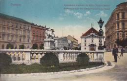 POZSONY ... KORONAZASI DOMB TER ES MARIA TERESIA SZOBOR - Hungría