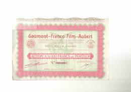 GAUMONT  -  FRANCO  -  FILM  -  AUBERT  -  PARIS  03/06/1930  -  Il  Manque  1  Coupon - Cinéma & Théatre