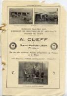 Pub--Saint POL DE LEON--Finistère---1929---A.CUEFF--et   Olivier KERBIRIOU Marque Déposée O*K (pommes De Terre.)-Photos - Publicités